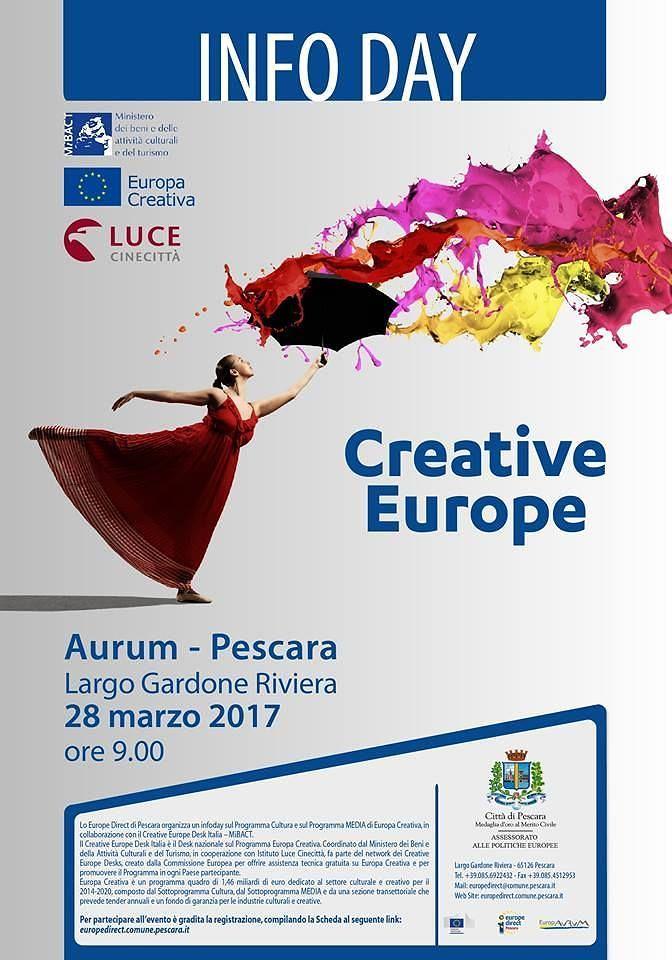 Pescara, apre l'info-day sul programma 'Europa creativa'
