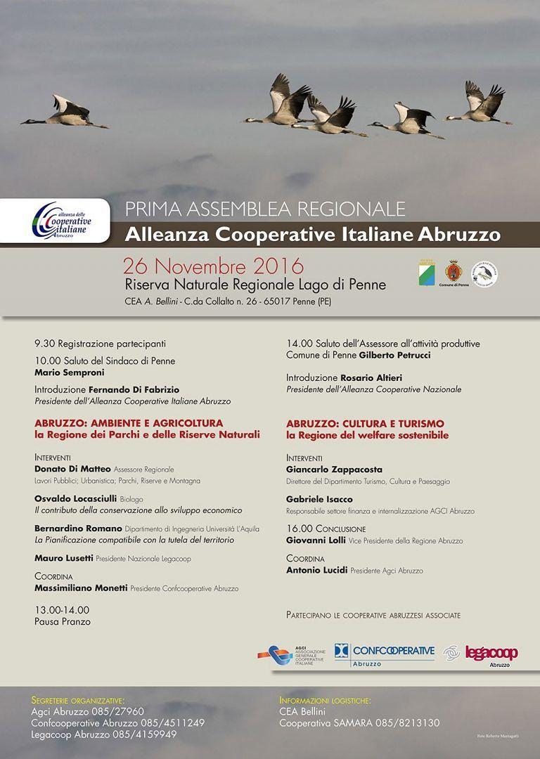 Penne, Alleanza regionale delle Cooperative: al via la prima assemblea