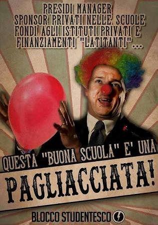 'Buona Scuola': Proteste del Blocco Studentesco a Lanciano contro la riforma scolastica del governo Renzi