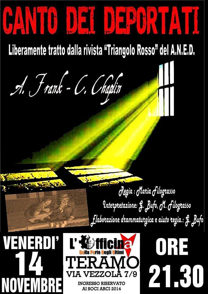 Teatro civile e rassegna Jazz alle Officine Indipenti di Teramo