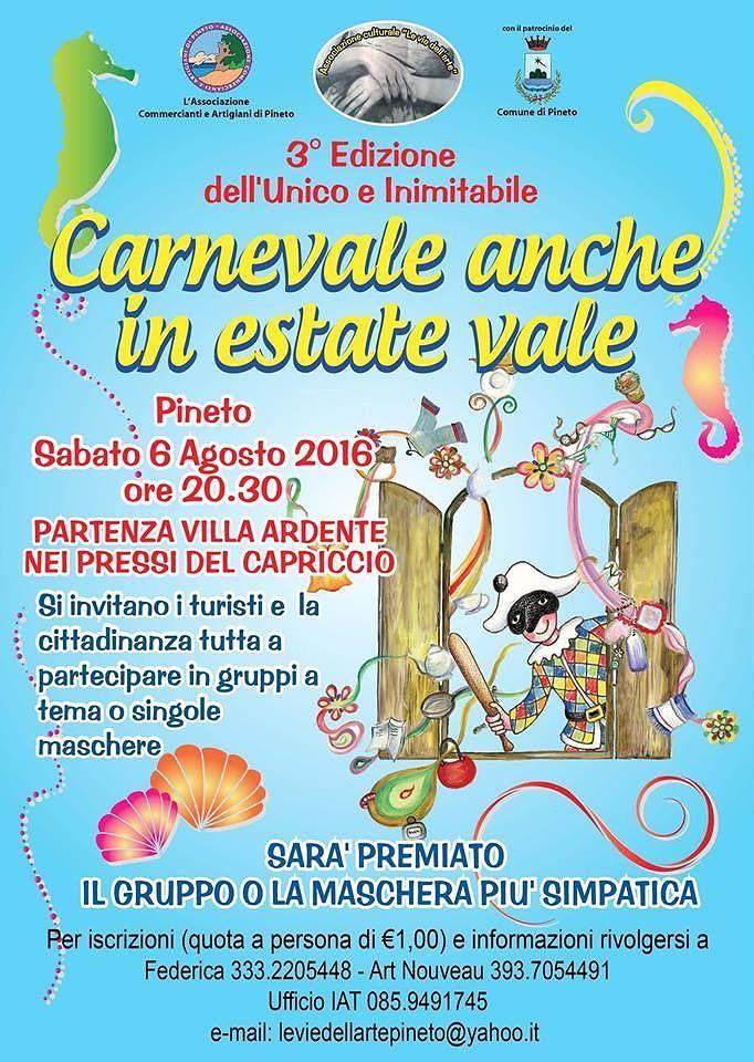 Pineto, il maltempo rimanda il Carnevale estivo