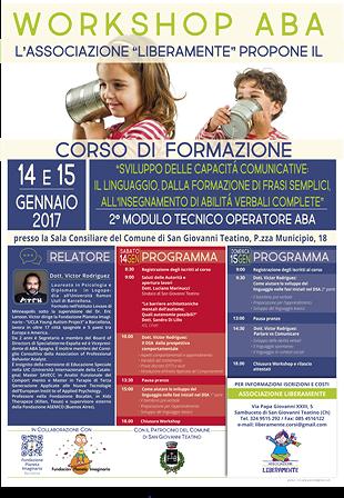 Autismo, workshop di Victor Rodriguez a San Giovanni Teatino