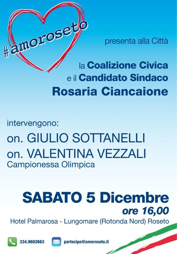 Elezioni, Valentina Vezzali presenta #amoreroseto e Rosaria Ciancaione