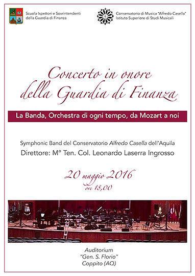 L'Aquila, Guardia di Finanza dedica concerto al repertorio bandistico