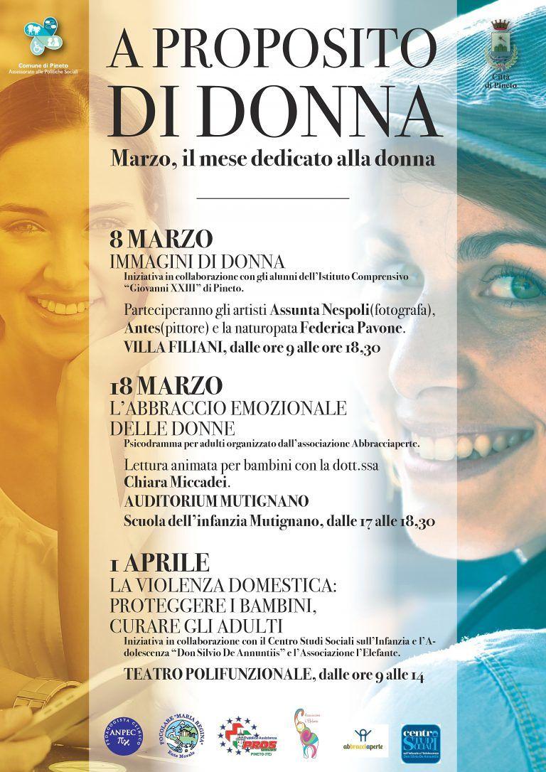 Pineto celebra la Festa delle Donne: appuntamenti per tutto il mese