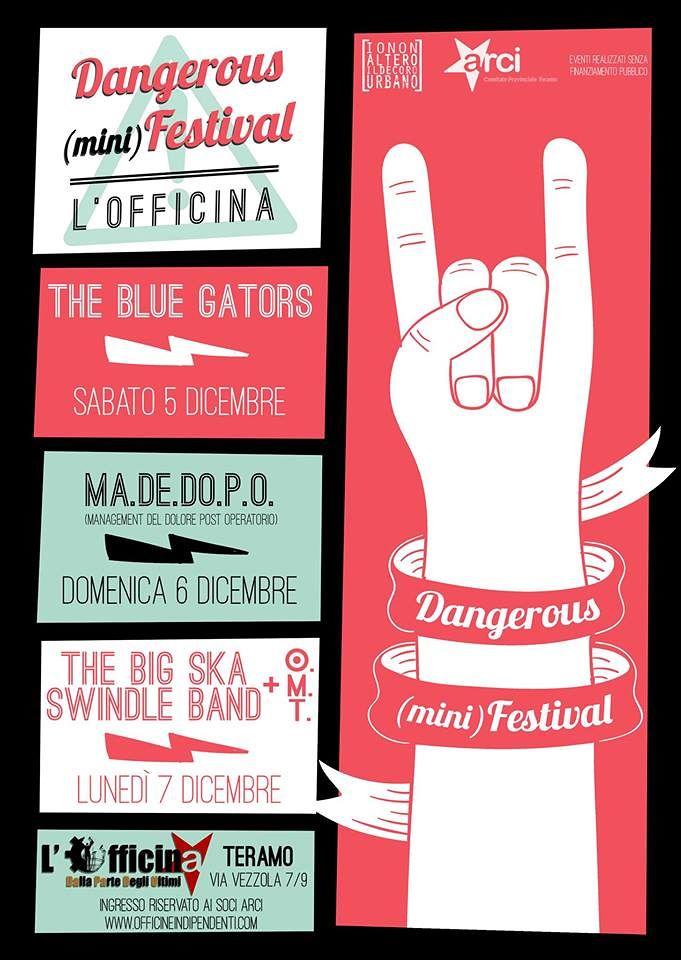 Teramo, Dangerous (mini)Festival alle Officine Indipendenti (con il rischio di essere chiusi)