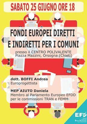 Orsogna promuove una rete tra Comuni per attingere ai fondi europei
