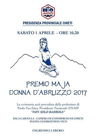 Chieti, Premio Maja d'Abruzzo a Angela Di Crescenzo e Barbara Morgante