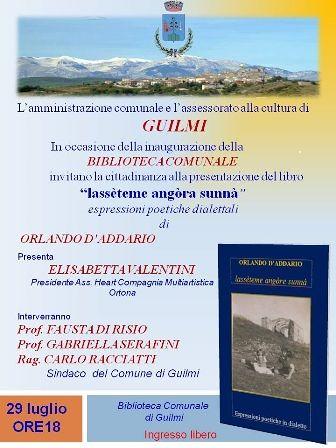 Inaugurazione della biblioteca di Guilmi