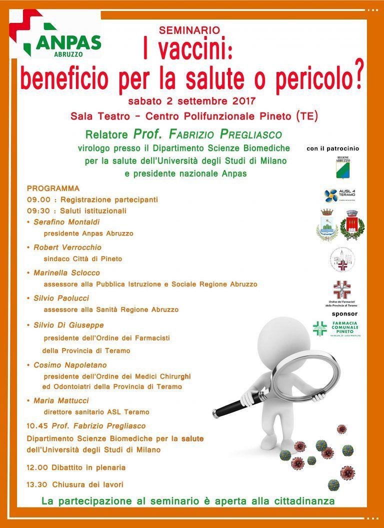 Pineto, seminario sui vaccini al Polifunzionale