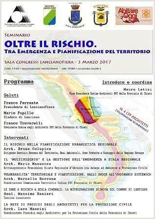 Lanciano Fiera, seminario su emergenza e pianificazione del territorio
