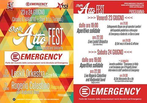 """Teramo, musica e solidarietà al """"SuonAtto Emergency Fest"""""""