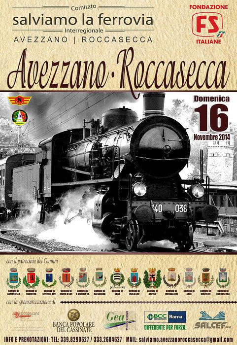 Treno a vapore da Avezzano a Roccasecca