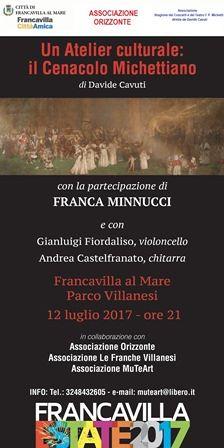 Francavilla, al Parco Villanesi si celebra il Cenacolo Michettiano con Davide Cavuti