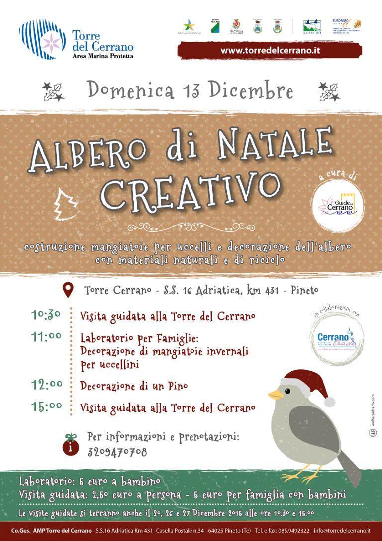 Pineto, luminarie in centro e Albero di Natale creativo a Torre Cerrano