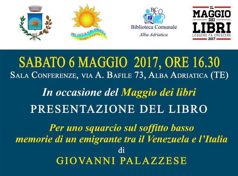 Alba Adriatica, Maggio dei libri: in sala conferenze la pubblicazione di Giovanni Palazzese