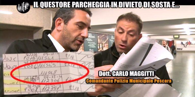 Pescara, multa al questore, annullata sanzione al vigile per intervista Le Iene