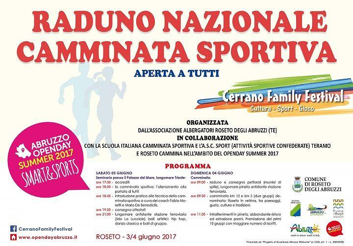 Roseto, tre giorni di sport (e non solo) per il Cerrano Family Festival