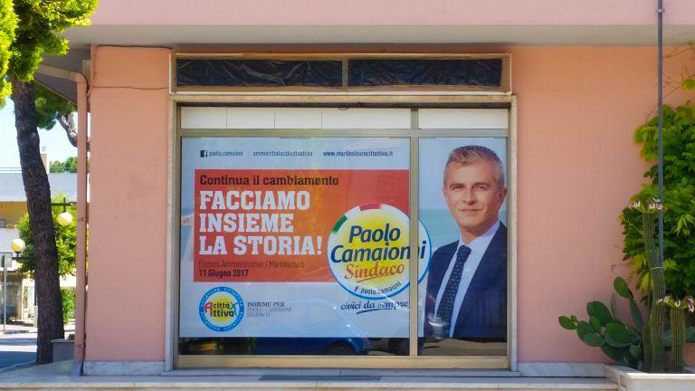 Martinsicuro, affissioni elettorali abusive. Elisa Foglia: spettacolo indecente FOTO