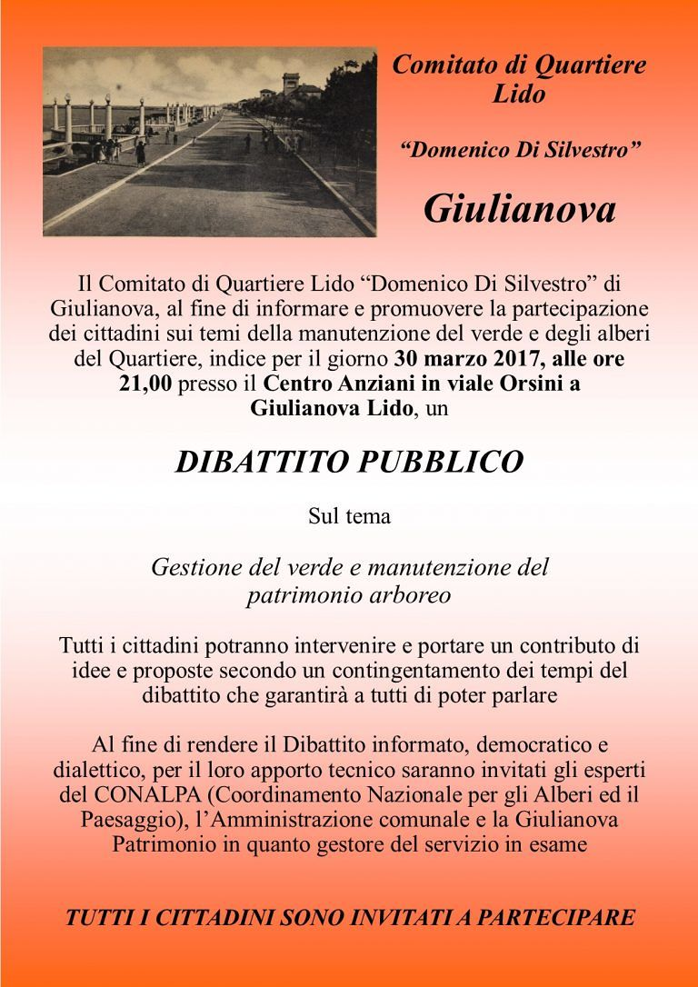 Gestione del verde, dibattito pubblico con Conalpa e Giulianova Patimonio
