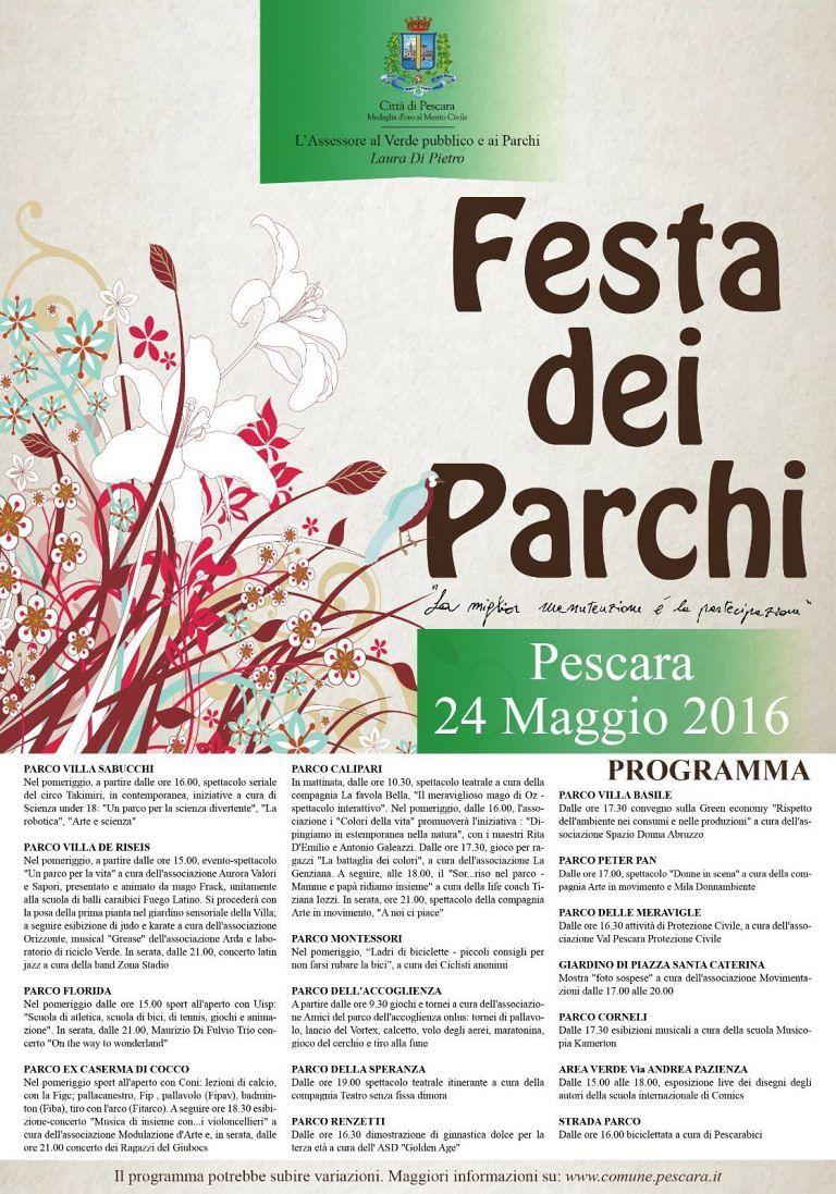 Pescara, parchi cittadini in festa: tutte le iniziative