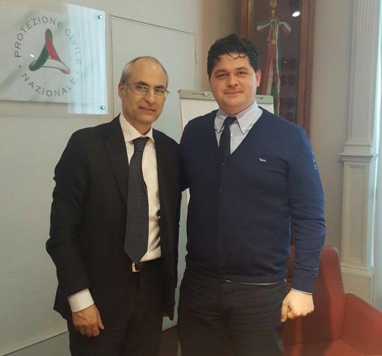 Fabrizio Curcio in visita nelle zone delle frane a Ponzano, Castelnuovo e Paduli