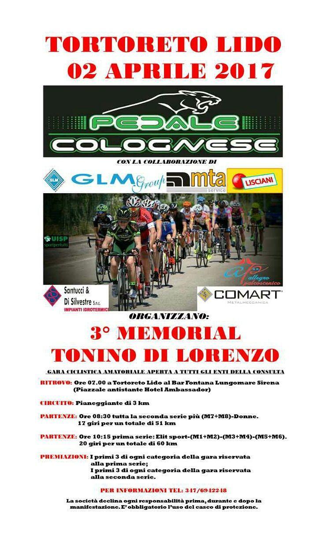 Ciclismo amatoriale: a Tortoreto il memorial Tonino Di Lorenzo