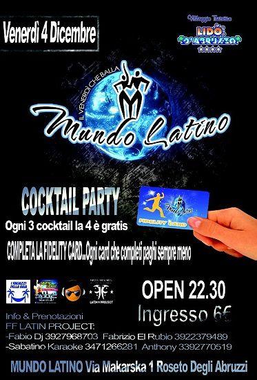 I Ragazzi della Baia e Sabatino Karaoke presentano Mundo Latino – 4 dicembre- Lido d'Abruzzo | Roseto