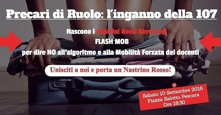 Mobilità forzata dei docenti, flash mob dei Nastrini Rossi Abruzzesi