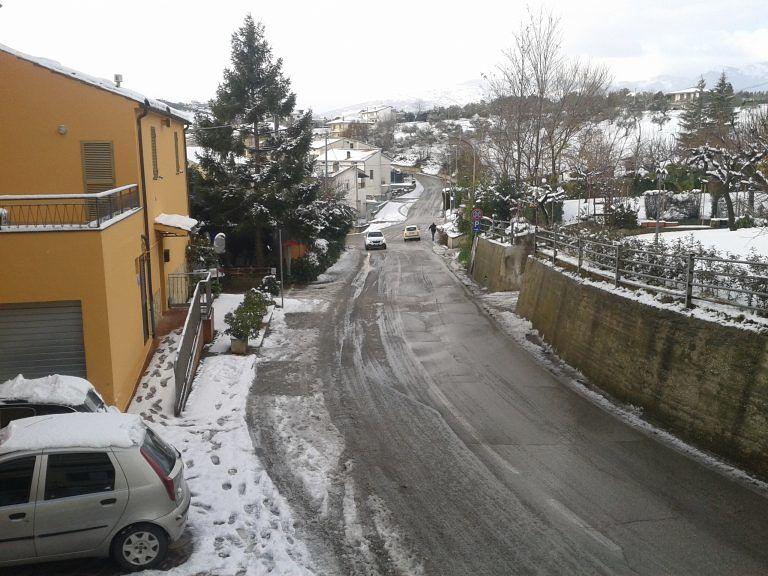 Nevica a Lanciano e Frentania: 50 cm a Pizzoferrato