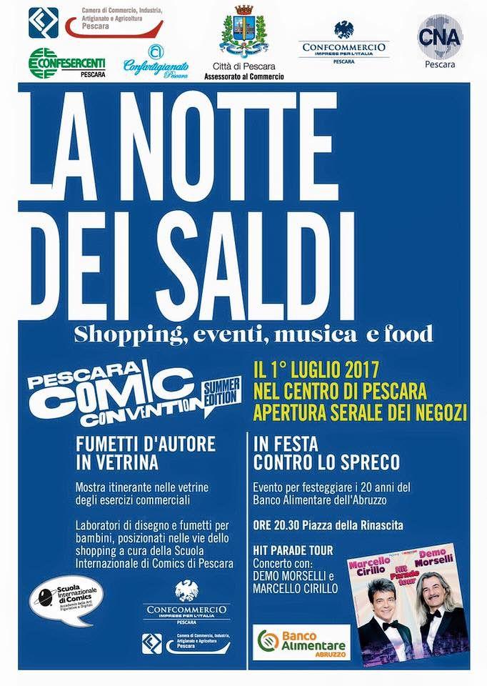 Week end di eventi a Pescara: Notte dei Saldi, Comic Convention e Festa contro lo spreco
