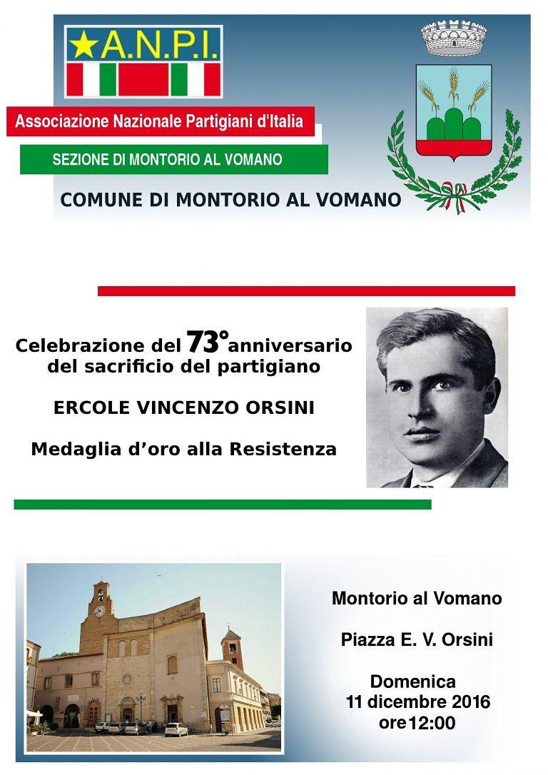 Montorio, celebrazioni per ricordare l'uccisione di Ercole Vincenzo Orsini