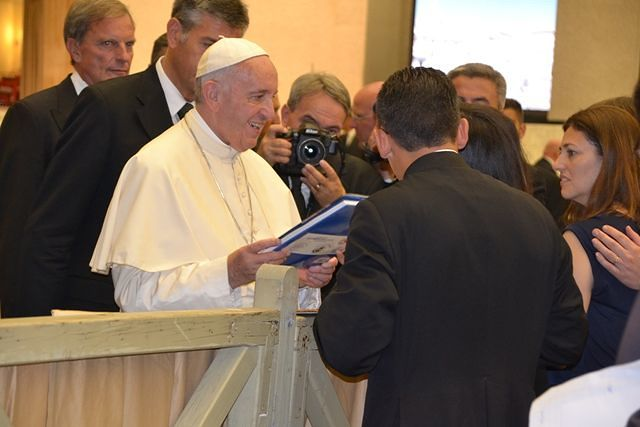 Parroco e Sindaco di Torrevecchia Teatina insieme dal Papa