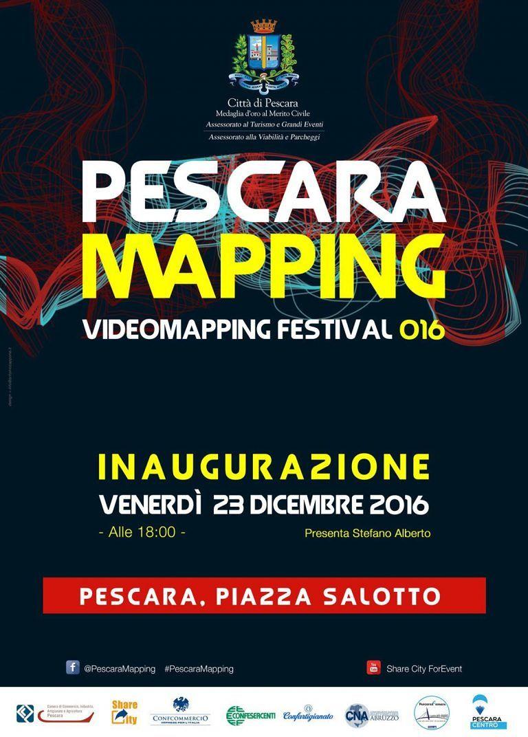 Pescara, prima proiezione del video mapping a Piazza Salotto