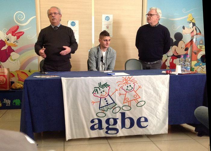 Pescara, Verratti visita i bambini dell'Agbe