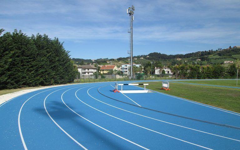 Montesilvano, pronta la pista di atletica leggera di via Senna