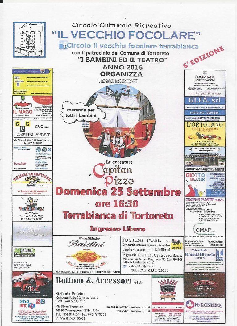 Tortoreto, Capitan Pizzo a Terrabianca: evento per il bambini