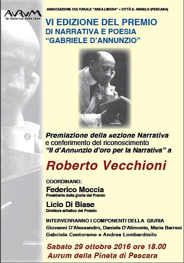 Pescara, Roberto Vecchioni all'Aurum per il Premio D'Annunzio