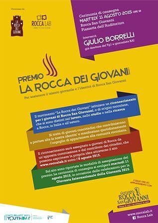 A Rocca San Giovanni il premio La Rocca dei Giovani