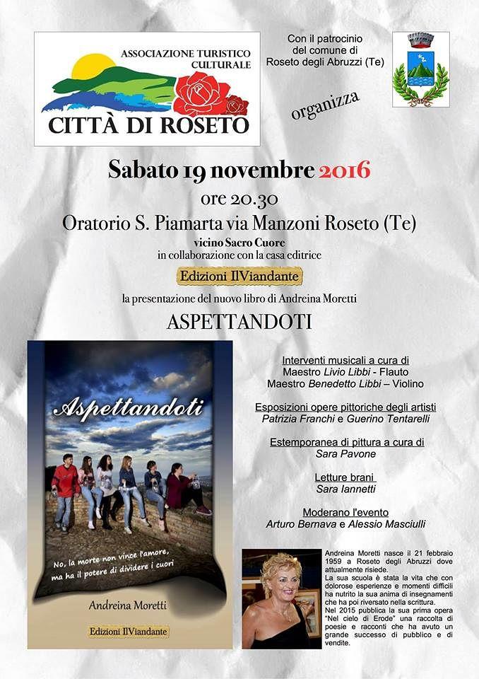 Roseto, Dimensione Volontario partecipa alla presentazione del nuovo libro di Andreina Moretti