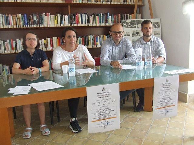 Francavilla, le iniziative ed i nuovi orari della Biblioteca comunale VIDEO
