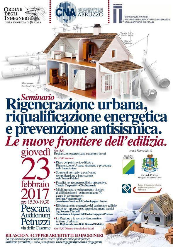 Pescara, rigenerazione urbana: convegno sulla nuova edilizia