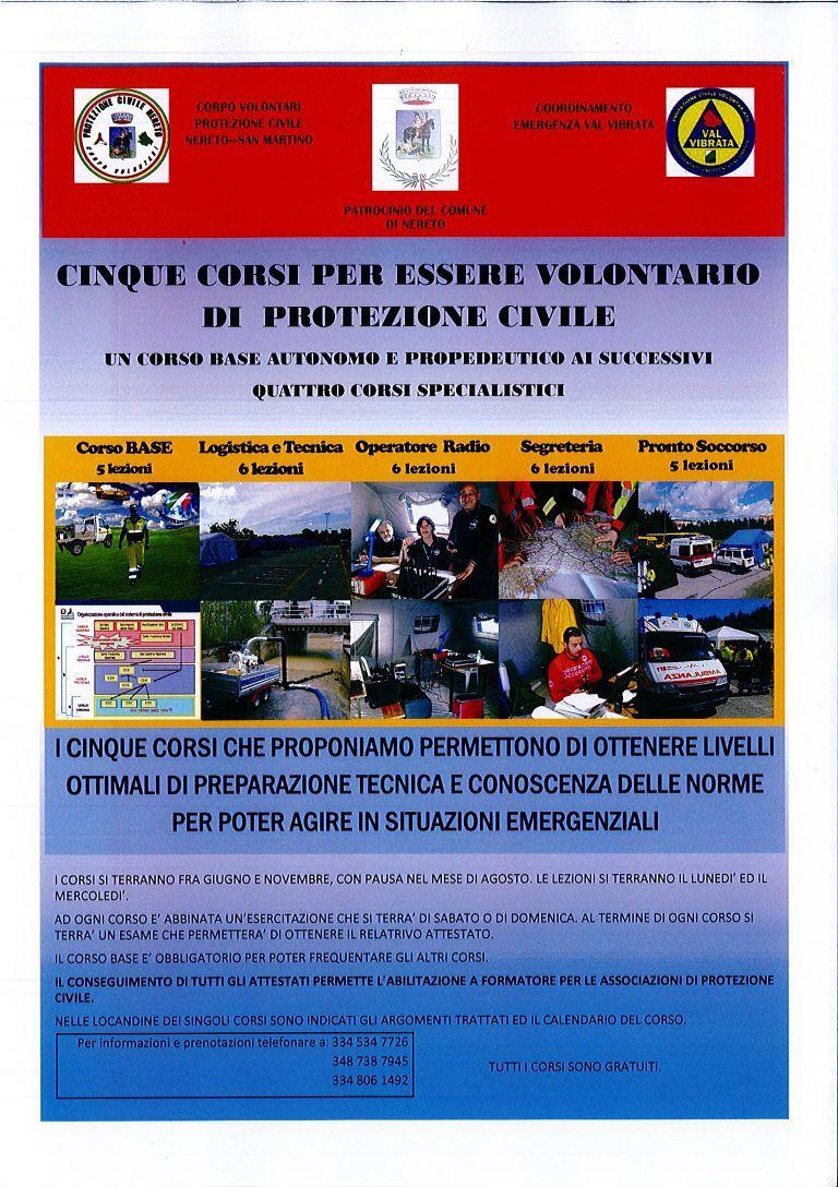 Nereto, Protezione Civile: 5 corsi per formare i volontari
