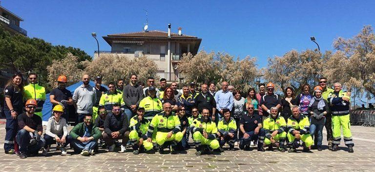 Silvi, esercitazione finale dei nuovi volontari di Protezione Civile FOTO