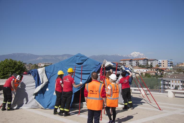 Pianella, esercitazione d'emergenza per conclude il corso di Protezione Civile
