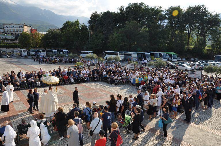 Santuario San Gabriele, raduno dell'Unitalsi Abruzzo