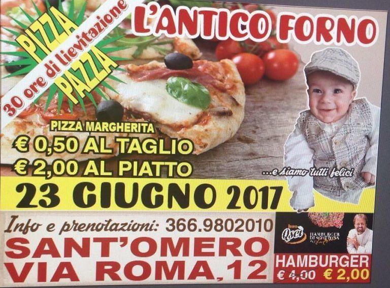 Antico Forno Rapini: sabato pizza ad un prezzo straordinario| Sant'Omero