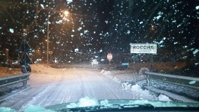 Maltempo nel Teramano, con la neve anche blackout elettrici