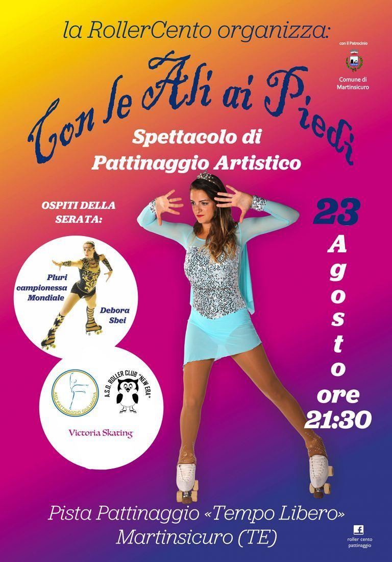 """Martinsicuro, """"con le ali ai piedi"""": spettacolo sui pattini al Tempo Libero"""