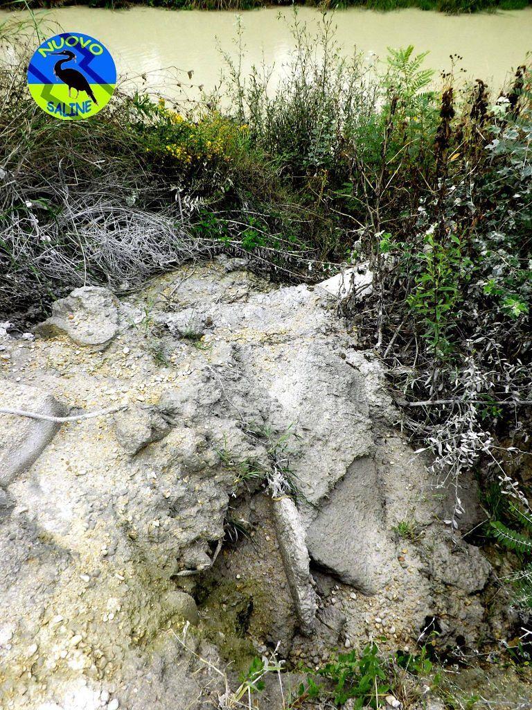 """Montesilvano, Nuovo Saline: """"Le betoniere scaricano il cemento nel fiume"""" FOTO"""
